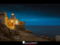 Monemvasia Lighthouse 2016 (Yiannis Chatzitheodorou) Tags: lighthouse monemvasia    bluehour evening landscape greece