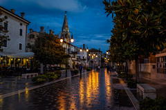 The Blue Hour in Grado, Italy (diana_robinson) Tags: bluehour grado italy friuliveneziagiulia lisoladelsole wetpavement aftertherain