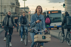 Biking in Amsterdam (tommyferraz) Tags: bike bikes biking amsterdam holland netherland girls people robots automata automated stream follow automatical robot robotic smartphone mobile connected central station path