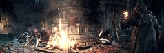 The power of fire (ConnecteD\_) Tags: dark souls iii fire screenshot panoramic panorama outdoor armor swords fallen knights