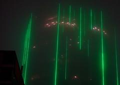 Neon and Fog (Moments-of-Kodak) Tags: atlanta georgia south modern architecture nocturnal street photography neon fog buckhead
