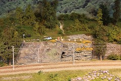 Berekvam H0  (06) (Rinus H0) Tags: modelspoorexpo expo 2016 leuven belgi belgium belgique louvain mstdemaaslijn berekvam h0 187 schaal gauge scale norway norwegian modeltreinen modelrailway modelleisenbahn modelspoor modeltrains trains cars trucks wagon nature scenery mountain