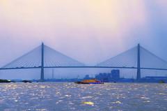 Ph M Bridge (Artypixall) Tags: vietnam saigon river bridge barge dusk faa getty