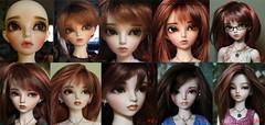 Amy over the years (ban sidhe) Tags: mnf minifee rheia bjd doll fairyland mod faceup custom