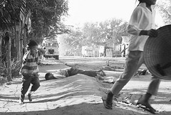 #A dead civilian lies nearby as a young Vietnamese boy shields his ears from gunfire blasts and runs for cover on a Da Nang street on January 31, 1968 NSFW [1500 x 1013] #history #retro #vintage #dh #HistoryPorn http://ift.tt/2f6zdih (Histolines) Tags: histolines history timeline retro vinatage a dead civilian lies nearby young vietnamese boy shields his ears from gunfire blasts runs for cover da nang street january 31 1968 nsfw 1500 x 1013 vintage dh historyporn httpifttt2f6zdih