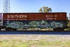 (o texano) Tags: houston texas graffiti trains freights bench benching abort
