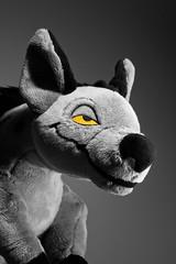 001-Shenzi (Univaded Fox) Tags: shenzi hyena the lion king plush disney store photography experiment black white photoshop univaded