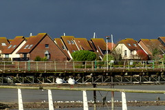 Black Skies over Hythe (Hythe Eye) Tags: hythe hampshire southamptonwater winter storm sun clouds marinavillage