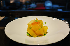 Salmon Tartare, Dill, Melon, Finger Lime (Premshree Pillai) Tags: singapore singaporeaug16 summer summer2016 meta restaurant dinnerorone dinner food dinnerforone