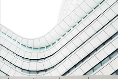 Every habitat gets whitewashed eventually (Maerten Prins) Tags: nederland netherlands groningen grn modern new building white lines curves duo belastingdienst tax abstract urban windows curve line architecture