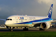 """ANA Boeing 787-9 """"ANA's 50th 787"""" c/s JA882A (Manuel Negrerie) Tags: ana 7879 boeing787 b7879 dreamliner ja882a spotting songshanairport airport jetliners airliners japan livery taipei staralliance canon sunlight taxiway photography"""