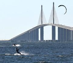 Kite surfing near Skyway Bridge in St. Petersburg (19) (Carlosbrknews) Tags: kitesurfing stpetersburg skywaybridge tampa bay florida