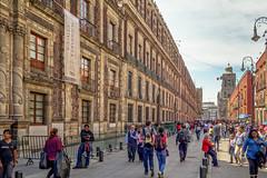 Perspective (Chris Huddleston) Tags: mexicodf sinking urban mexicocity street people nationalpalace palacionaccional city pedestrian walking cdmx