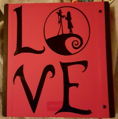 Vinyl cut placed on the back cover of my ATC album. (HollyBear81) Tags: cameo silhouette vinyl nightmarebeforechristmas