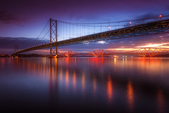 The Two Bridges (devlin11) Tags: forth bridges bridge sunrise scotland scenery seaside sea seascape tranquil morning nikon queensferry