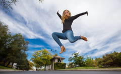 Fresh air (Flickr_Rick) Tags: outside autumn breanne jump jumping jumpology woman athletic strong