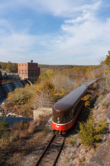 The Going Away Shot (sullivan1985) Tags: connecticut providenceandworcester providenceworcester pw ct train railroad railway ge generalelectric b398e b408w passenger passengertrain waterfall falls newenglander observationcar tailcar autumn southbound pw4005 pw3907