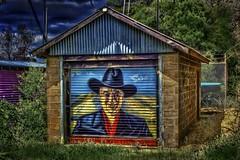The Duke (jatakaphoto) Tags: bathingbox johnwayne duke streetart beach foreshore graffiti mural rolladoor