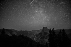 Glacier Point Yosemite BW1-9608 (Jeffrey Beringer) Tags: glacier point yosemite night sky shooting star astrophotography ancient bristlecone pine anti trails dark jeffrey beringer clear grandview campground eastern sierra big bishop ca canon 6d rokinon half dome romance science shows sports style syndicated local top video tv tak berkategori the lead thoughts travel weather world features film gallery genel health media mma junkie ncaaf photos spanning sec technology usa today