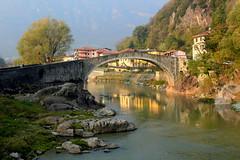 Montecchio bridge (annalisabianchetti) Tags: montecchio darfo vallecamonica montagne mountains autumn autunno paesaggio landscape river oglio fiume ponte