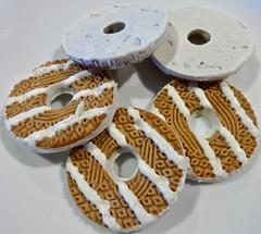 pumpkin spice white fudge striped cookie (Fuzzy Traveler) Tags: cookie fudge striped icing sweets desserts pumpkin spiced flavor