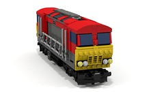 Three Quarters (JSDBanner) Tags: lego train modification instructions diesel white background brclass66 60098