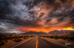 The Road to Hell (Riccardo Maria Mantero) Tags: clouds mantero riccardomariamantero sunset america landscape outdoors road sky summer sun travel usa