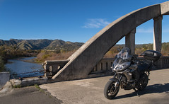 Exploring Northern California (Franco Folini) Tags: green kawasaki kawasakiversys1000 versys caliifornia northerncalifornia capayvalley bridge ponte moto motocicletta motorbike mototurismo motorcycletouring motorcycle rumsey cache creek cachecreek