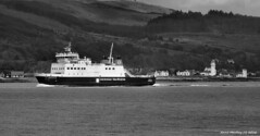 Scotland West Highlands Argyll car ferry Argyle passing Toward lighthouse 29 May 2016 by Anne MacKay (Anne MacKay images of interest & wonder) Tags: scotland west highlands argyll caledonian macbrayne car ferry argyle lighthouse monochrome blackandwhite landscape xs1 29 may 2016 picture by anne mackay toward