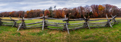 rail fence (kderricotte) Tags: hff railfence fence sonya6000 pano panorama sky clouds autumn fall foliage leaves grass 35mm18