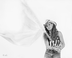 The flight of white...waves (Catching_alchemic light) Tags: surrender stars stripes flag pole hat cowboyhat eagle tanktop waving surrending message metaphor portrait self jeans highkey studio lighting ratio cmwd
