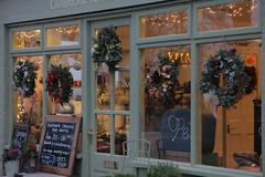 Cambridge Flora (Adam Swaine) Tags: shops village villages stores cambs cambsvillages flowers flora xmas windows ukvillages