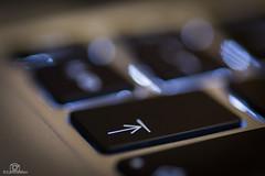 Arrow - Macro Monday (CamraMan.) Tags: arrow macromonday macromondays hmm tab key keyboard macbook ©camraman ©davidliddle canon6d tamron90mm tripod backlit bokeh apple