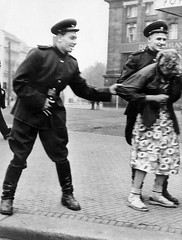 #Soviet soldiers openly sexually harass a German woman in Leipzig, 1945 [564  744] #history #retro #vintage #dh #HistoryPorn http://ift.tt/2gp2aGD (Histolines) Tags: histolines history timeline retro vinatage soviet soldiers openly sexually harass german woman leipzig 1945 564  744 vintage dh historyporn httpifttt2gp2agd