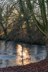 Herbstlicher Winter an der weißen Burg (G_Albrecht) Tags: season sundown eis jahreszeit landschaft sonne sonnenschein sonnenuntergang umwelt wetter winter