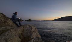 Enjoing the sunrise... (bent inge) Tags: norway norwegianfjords tysnes hordaland reksteren bruntveit november 2016 coffee sunrise morning seascape nikon d810