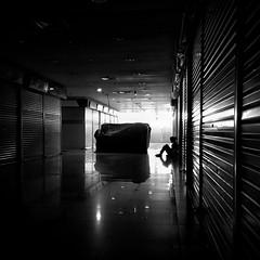 Waiting... (heatlarx) Tags: emptiness sadness sitting larxart heatlarx lonely alone blackwhite monochrome waiting