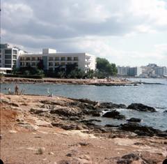 img199 (foundin_a_attic) Tags: hotel beach rocks white sea sand october 1976