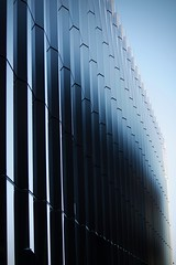 Facade (Bullpics) Tags: diagonal lines abstract geometric pattern architecture nikon d7100 bullpics norway oslo nordic blue outdoor reflection light facade building