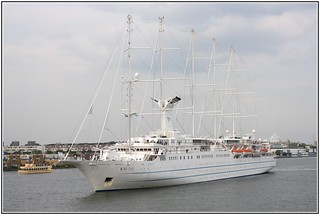 Wind Surf - One of the largest sailing cruise schips in the world - Amsterdam 29 august 2012