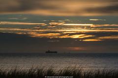 Late arrival (robvanderwaal) Tags: sunset sea sky netherlands skyscape evening zonsondergang ship nederland zee container maritime containership avond lucht shipping 2015 maritiem maasvlakte2 rvdwaal robvanderwaalphotographycom