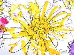 doodle ideas - yellow flowers drawing (createyourlifechange.com) Tags: pink inspiration plant flower art love beautiful beauty leaves rose yellow illustration watercolor design mar leaf paint artist pattern arte purple artistic journal creative violet like minimal follow doodle daisy marker create marguerite draw lovely ideas tutorial doodling techniques beginners followme