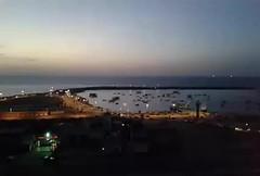 The port of Gaza City - fast imaging - Mobile (tawfeqhameid) Tags: city sea sky mobile night port gaza