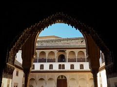 P6100120 (simonrwilkinson) Tags: window spain arch alhambra granada andalusia pillars courtofthemyrtles thenasridpalaces