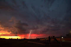 Sunset storm (She Likes Odd) Tags: sunset storm weather clouds manitoba thunderstorm lightning thompson severeweather canon60d thompsonmanitoba weatherwatch
