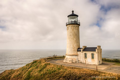 North Head Lighthouse (b#Photo) Tags: ocean cliff lighthouse clouds washington nikon pacificnorthwest hdr bluff northheadlighthouse bsharpphoto