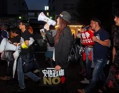 2015.8.30@Boys dressed as girls protest Abe's military bills in Akihabara, Tokyo, 2015/8/30. (Natsuki Kimura) Tags: girls boys japan war peace lgbt akihabara activism kimura  natsuki