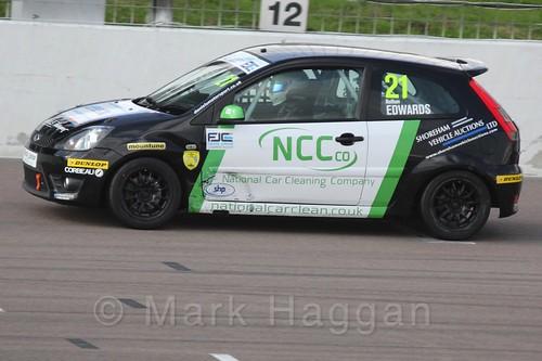 Nathan Edwards in Race 1, Fiesta Junior Championship, Rockingham, Sept 2015