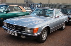 UJW 955Y (1) (Nivek.Old.Gold) Tags: auto mercedes 1983 stratford speeds 280sl
