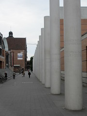Human rights columns at German National Museum, Nuremberg, Germany (Paul McClure DC) Tags: architecture modern germany bayern deutschland bavaria nuremberg franconia historic franken nrnberg may2015